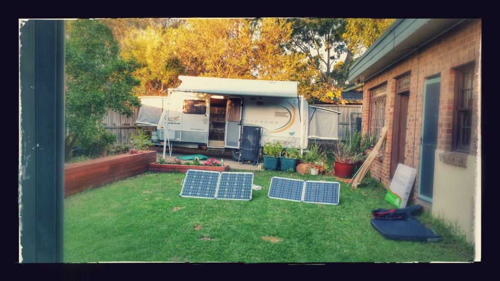 Caravan showing pop out sleeping, solar panels. (Annex folded up)