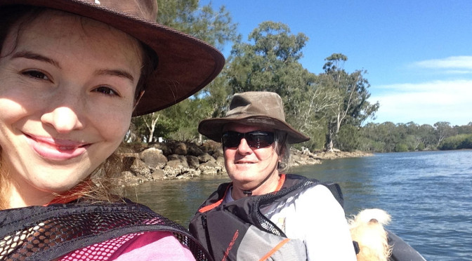 Paddling the Brunswick River