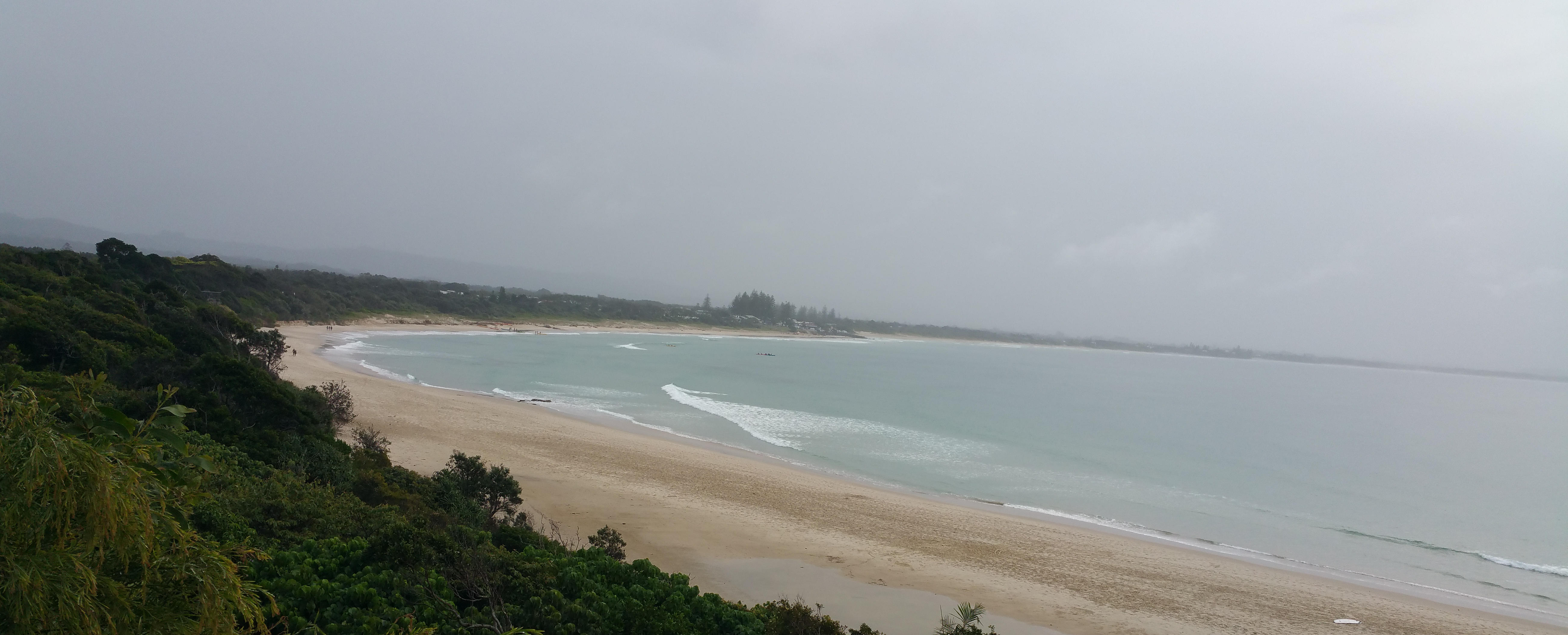 View of Byron Bay township back from the headland