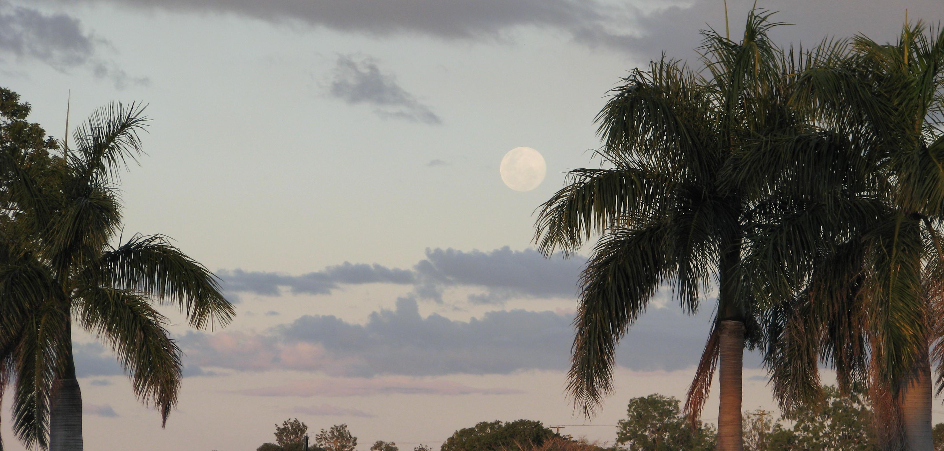 Full Moon over the Burnett River, Bundaberg