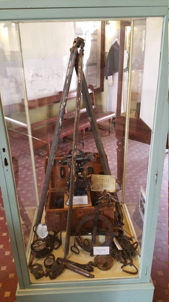 Surveying equipment used by the railway engineers
